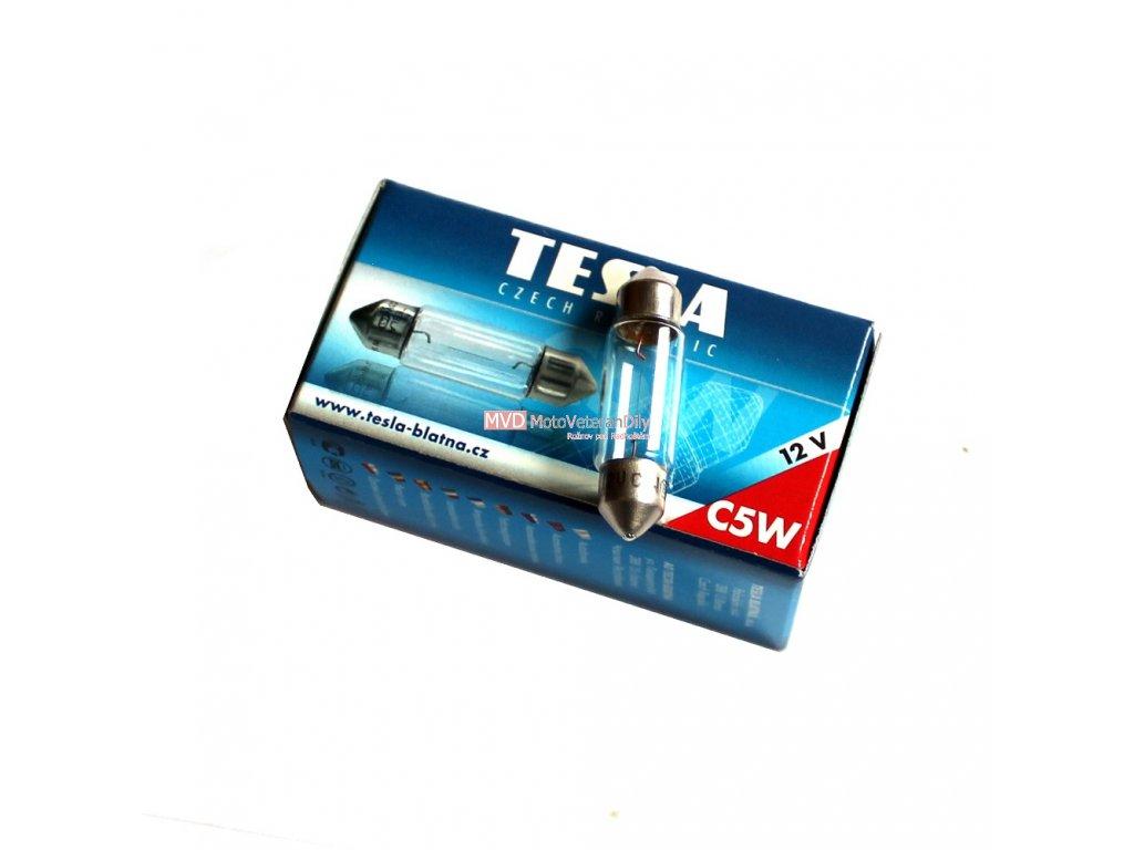 Žárovka 12V 5W SUFITKA - (TESLA)