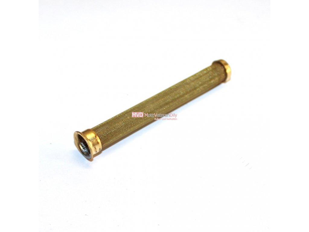 Sítko palivového kohoutu KOVOVÉ - (pro naletování) - celková délka 74 mm