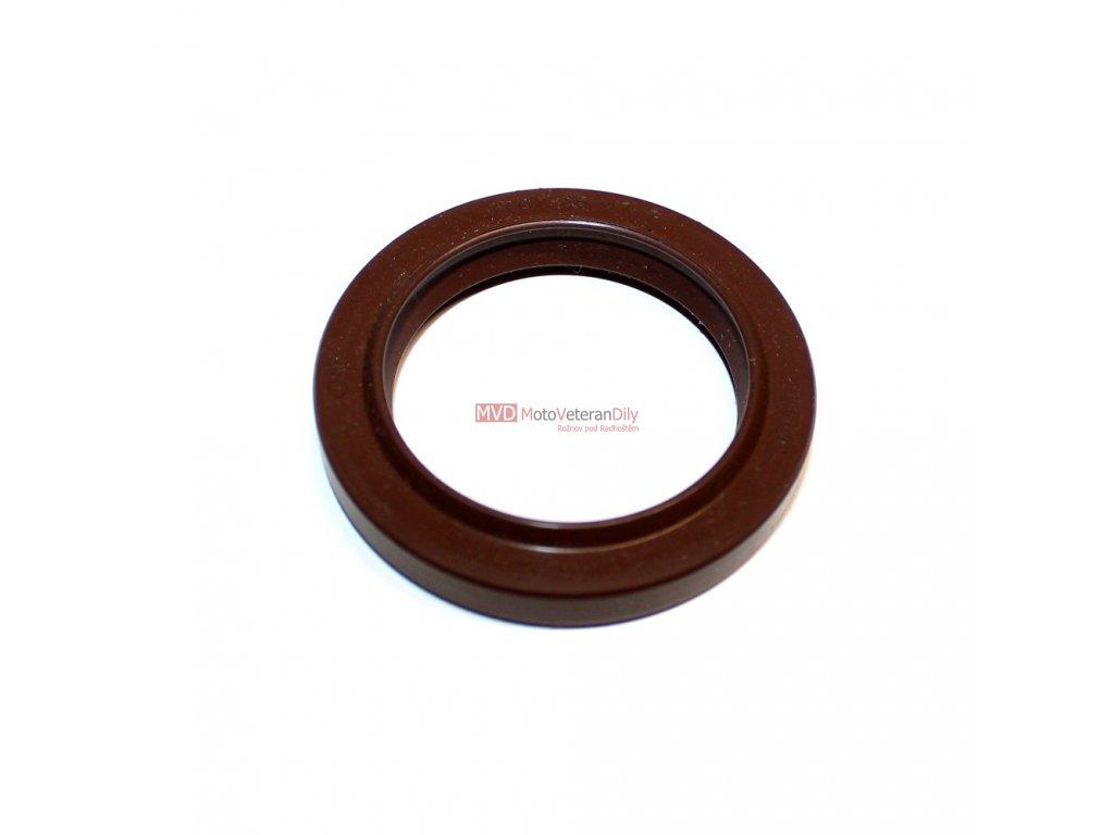 Stírací kroužek na přední vidlici Mz 150 ETZ - (35-47-7) hnědý