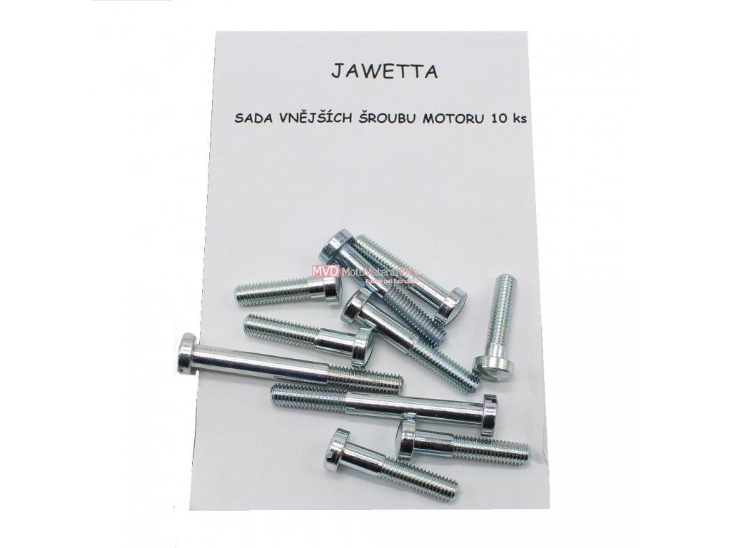 Pohledové - vnější šrouby motoru 10 kusů JAWETTA