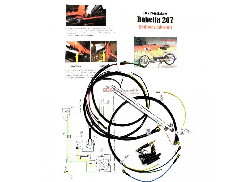 Kabeláž Babetta 207