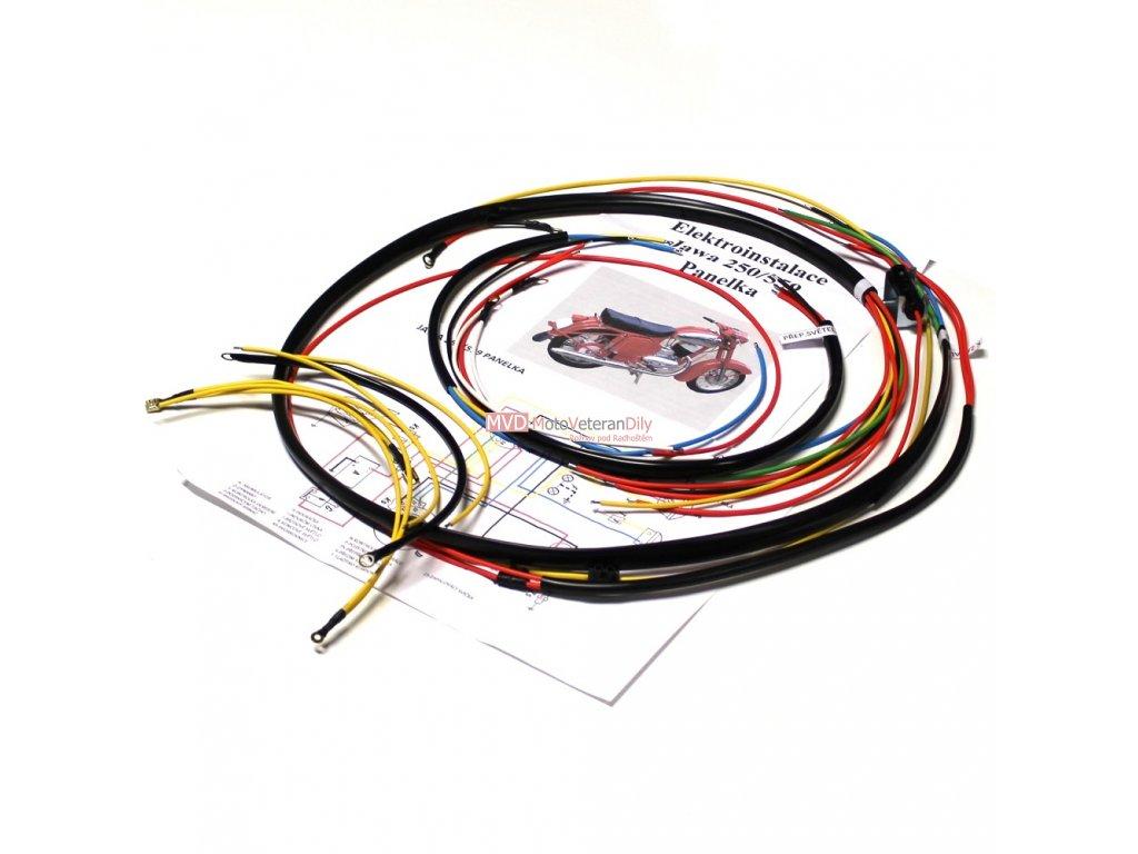 Kabeláž Jawa 250/559 Panelka