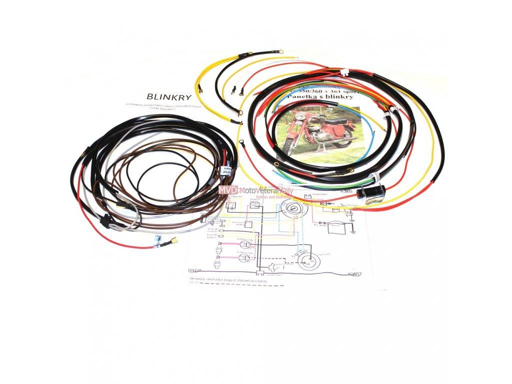 Kabeláž Jawa 250/559 Panelka s blinkry