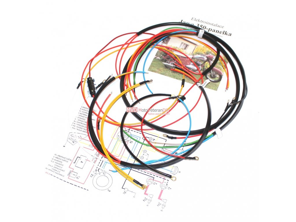 Kabeláž Jawa 350/360 Panelka