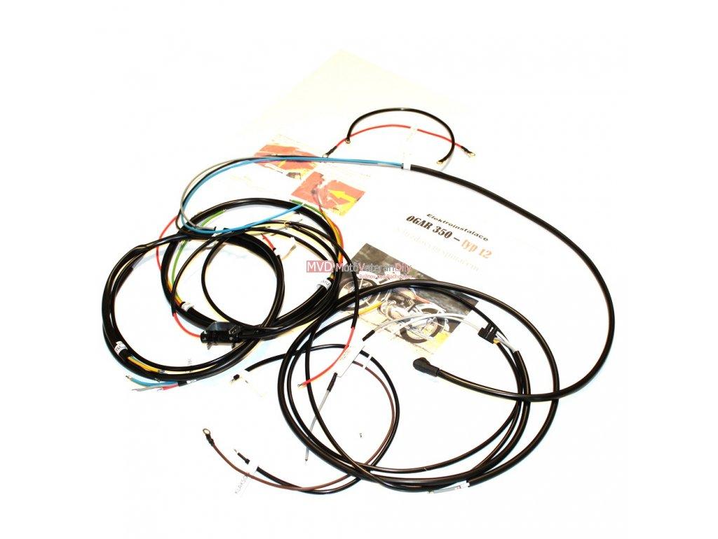 Kabeláž Ogar 350 - typ 12 - (barevné dráty)