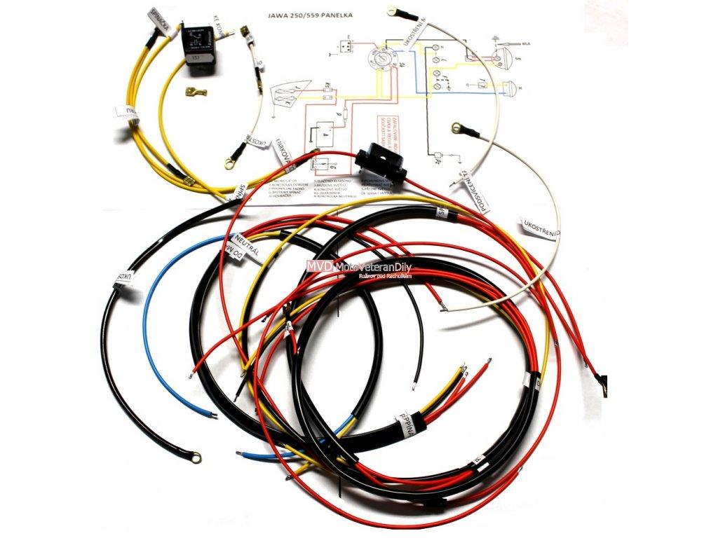 Kabeláž Jawa 250/559, 350/360 Panelka pro VAPE