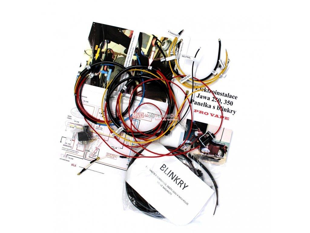 Kabeláž Jawa 250, 350 Panelka s blinkry pro VAPE