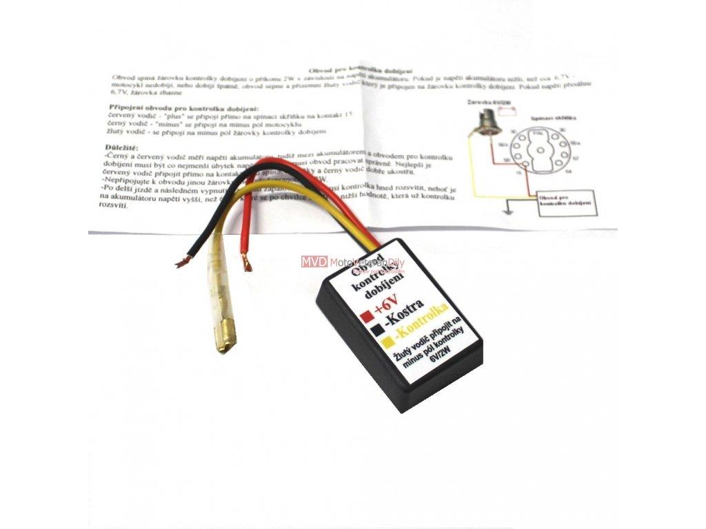 Vape - obvod kontrolky dobíjení 6 Voltů