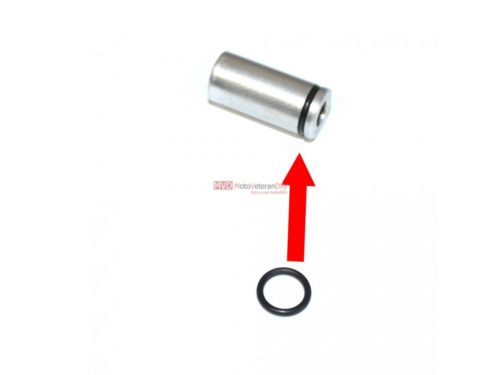 Gumový kroužek na ventilek olejového čerpadla Jawa 500 - OHC
