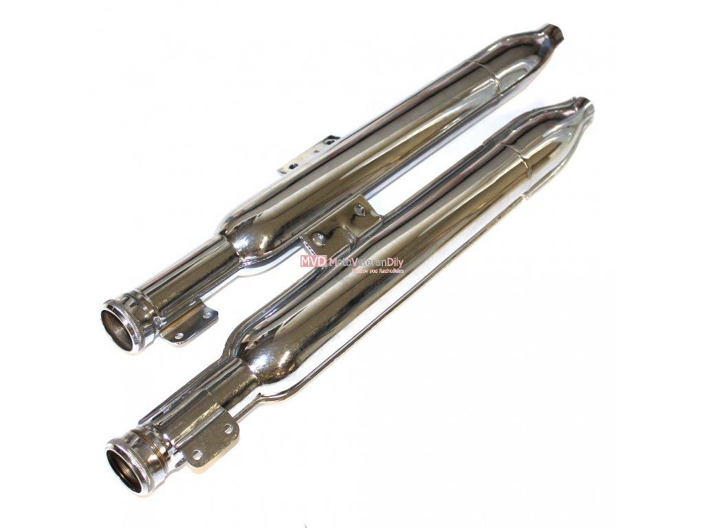Výfuky Jawa-Čz 175/356 a Jawa 125/150 (351, 352) - malá kývačka - (doutníky)