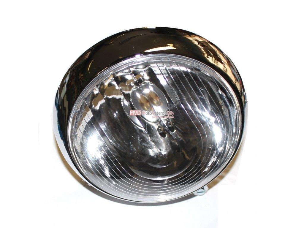 Lampa přední Pérák Fj s logem - (chrom)