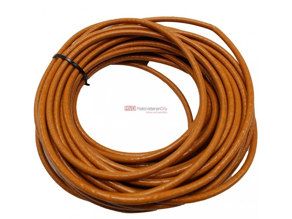 Svíčkový kabel opletený žlutý (0,5m)