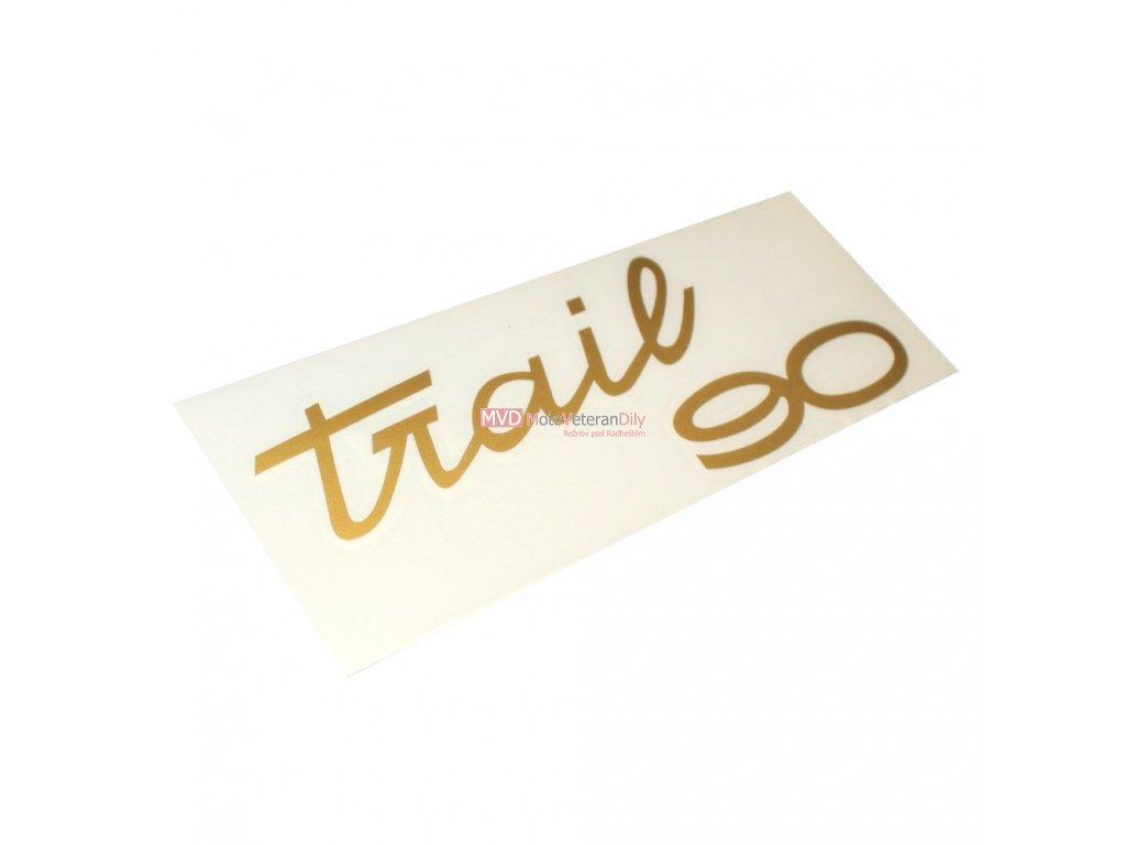Nálepky na kastlíky Trail - 2KUSY - zlatá