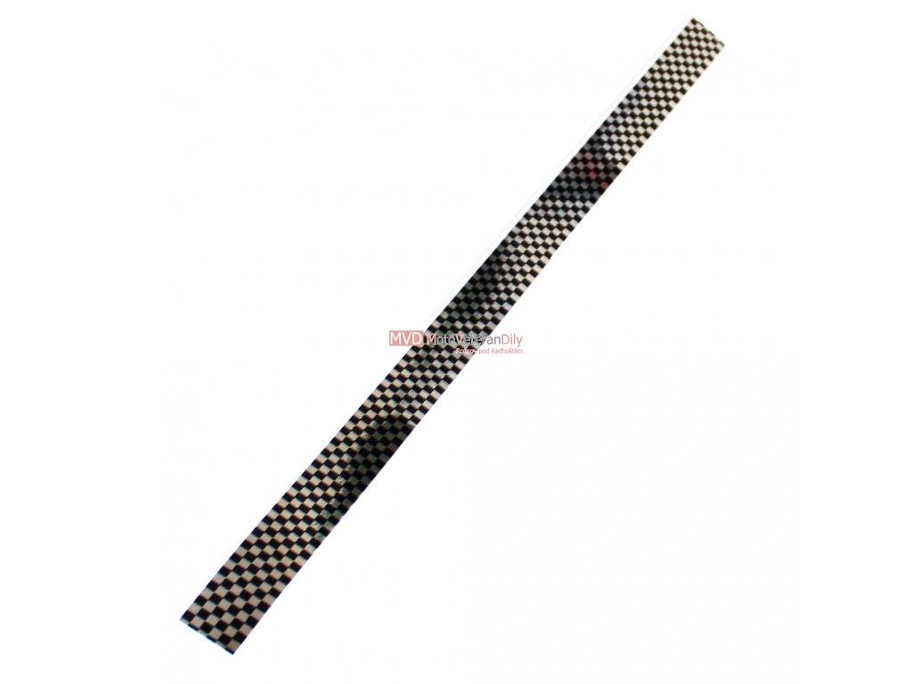 Nálepka šachovnice - stříbrná/černá - (400/20mm)