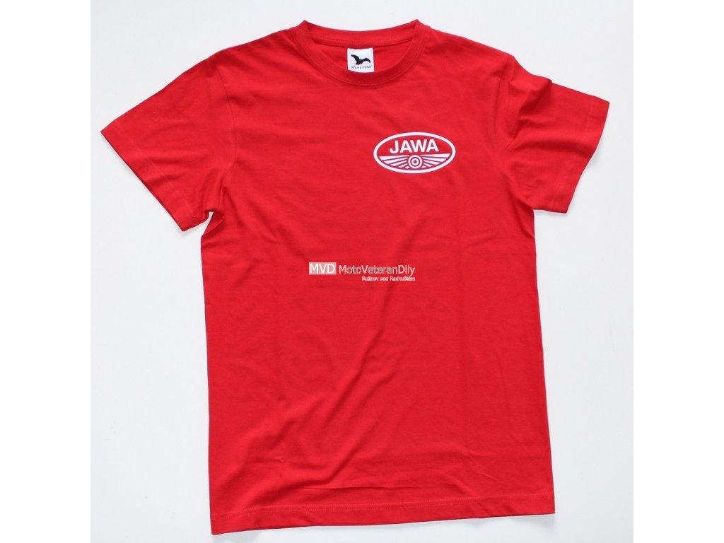 Tričko s logem Jawa - Červené