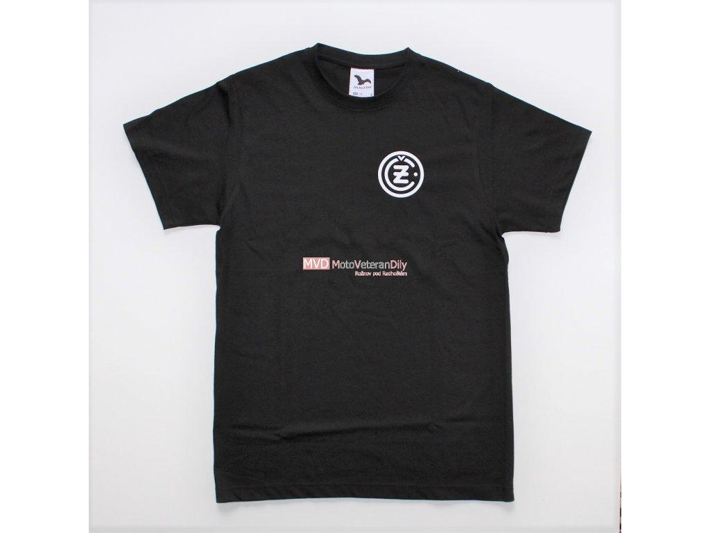 Tričko s logem ČZ - Černé 100% bavlna