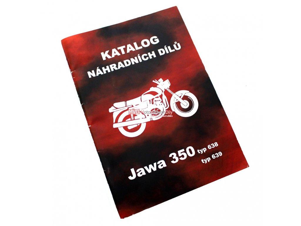 Katalog náhradních dílů Jawa 350 typ 638, 639
