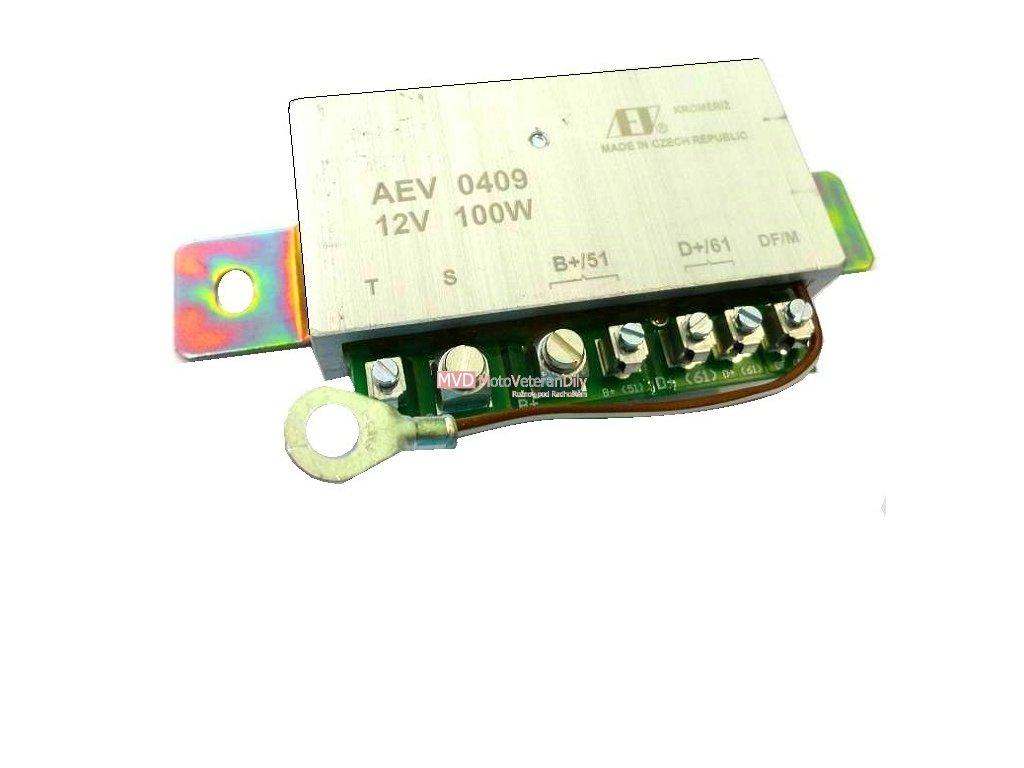 Regulátor 12V / 100W se spínačem dynamostartéru