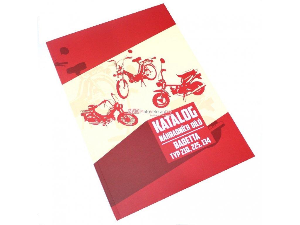 Katalog náhradních dílů Babetta 210, 225,134 (dvourychlostní)