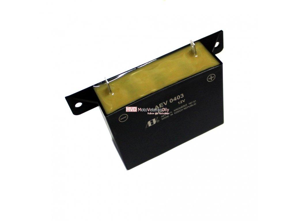 Kondenzátor AEV 0403 - (6 a 12 VOLTŮ)