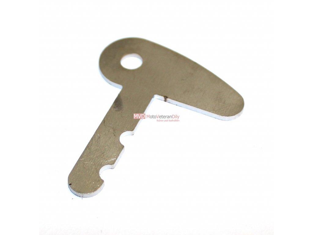 Klíček do spínací skříňky s Ampermetrem - NEREZ - (PAL)