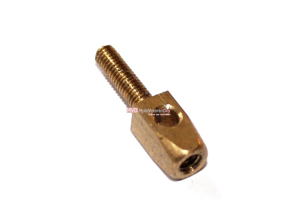 Kontakt mosazný ze závitem M4 - (mosazný)