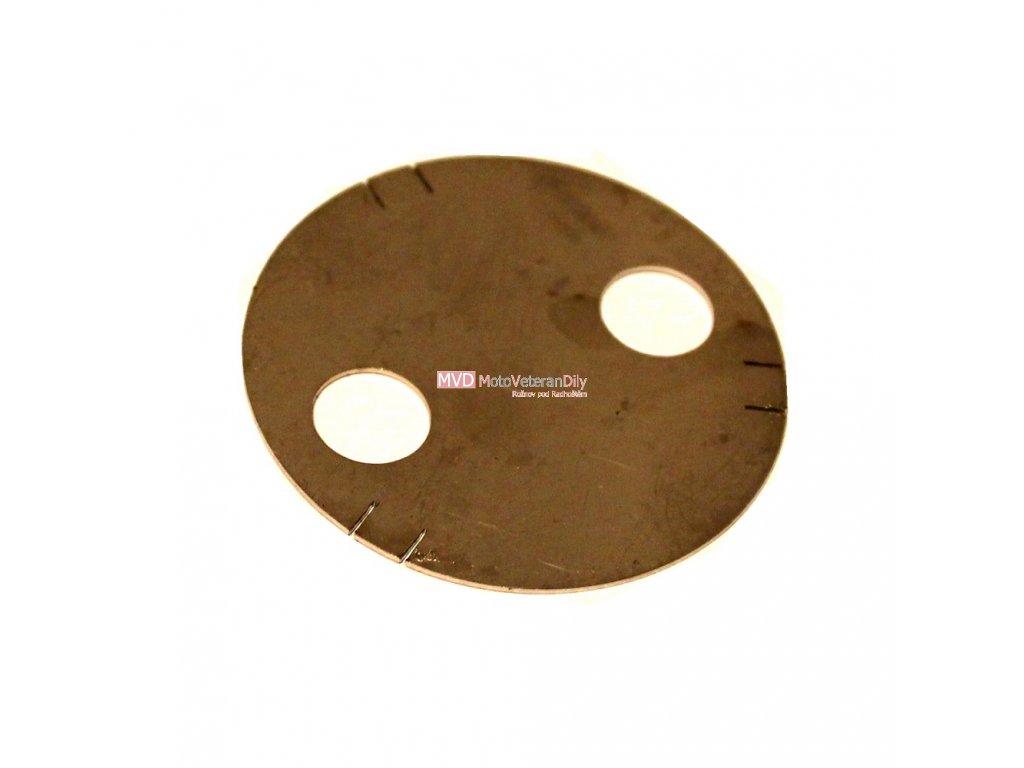 Krytka spodní na Ampermetr - (nerezová)