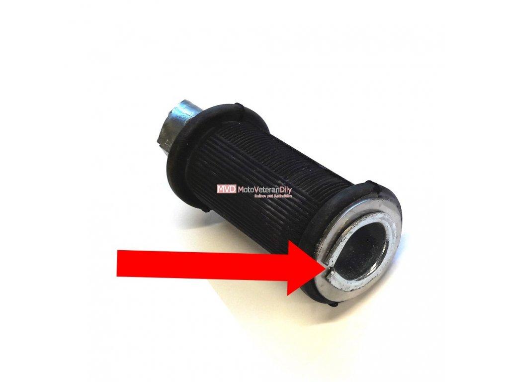 Podložka opěrná na gumu zadní stupačky - (nerezová)
