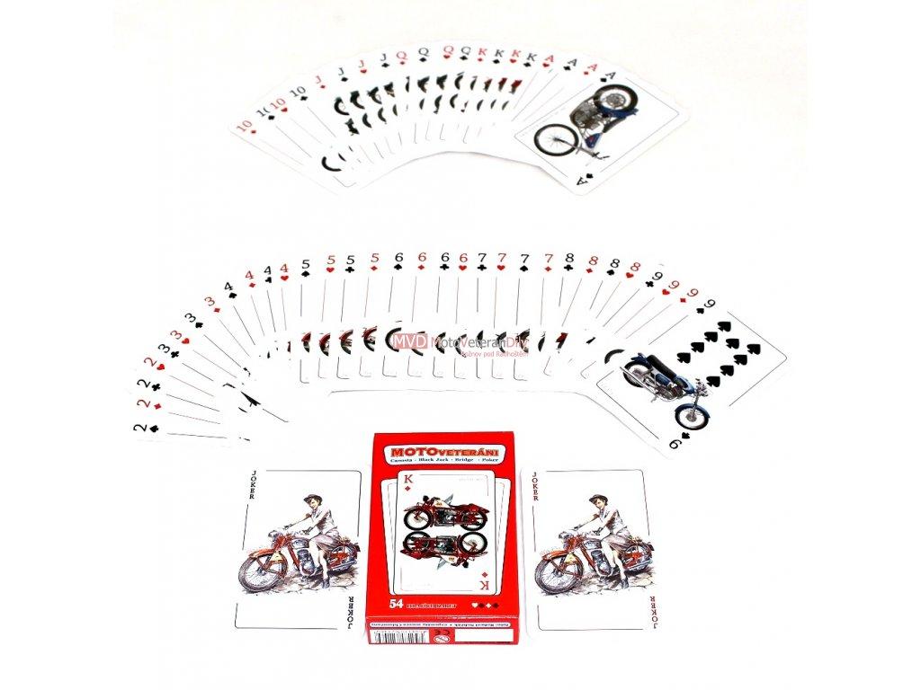 KARTY motoVETERÁNI - (žolikové karty)