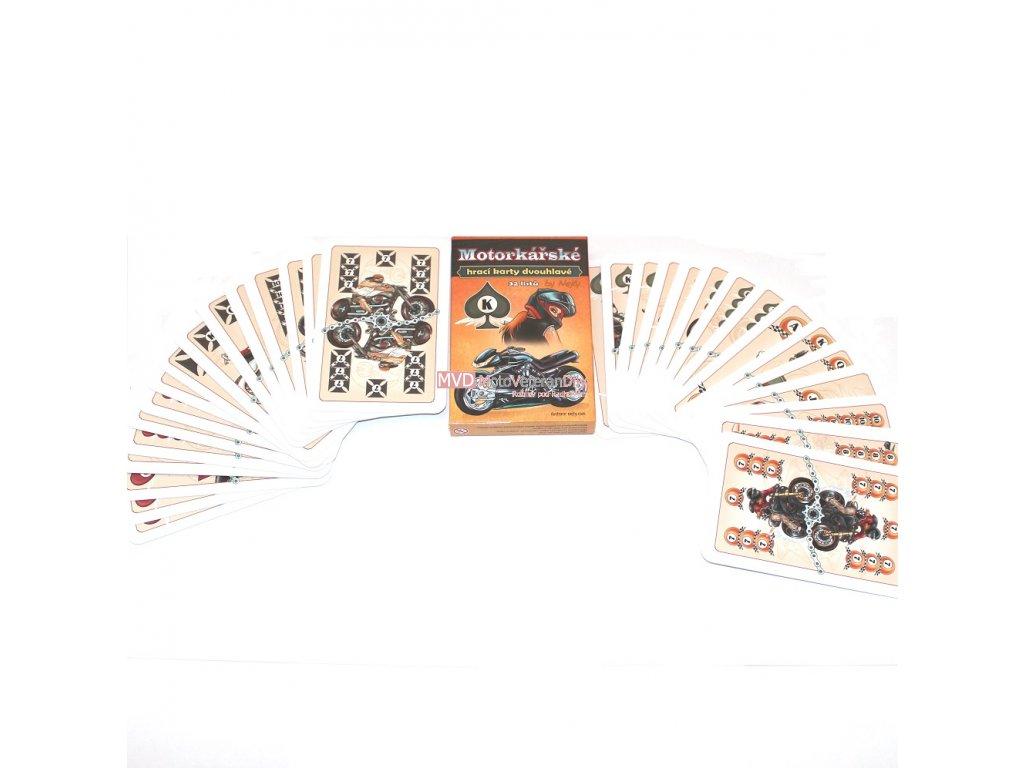 Mariášové karty dvouhlavé - MOTORKÁŘSKÉ