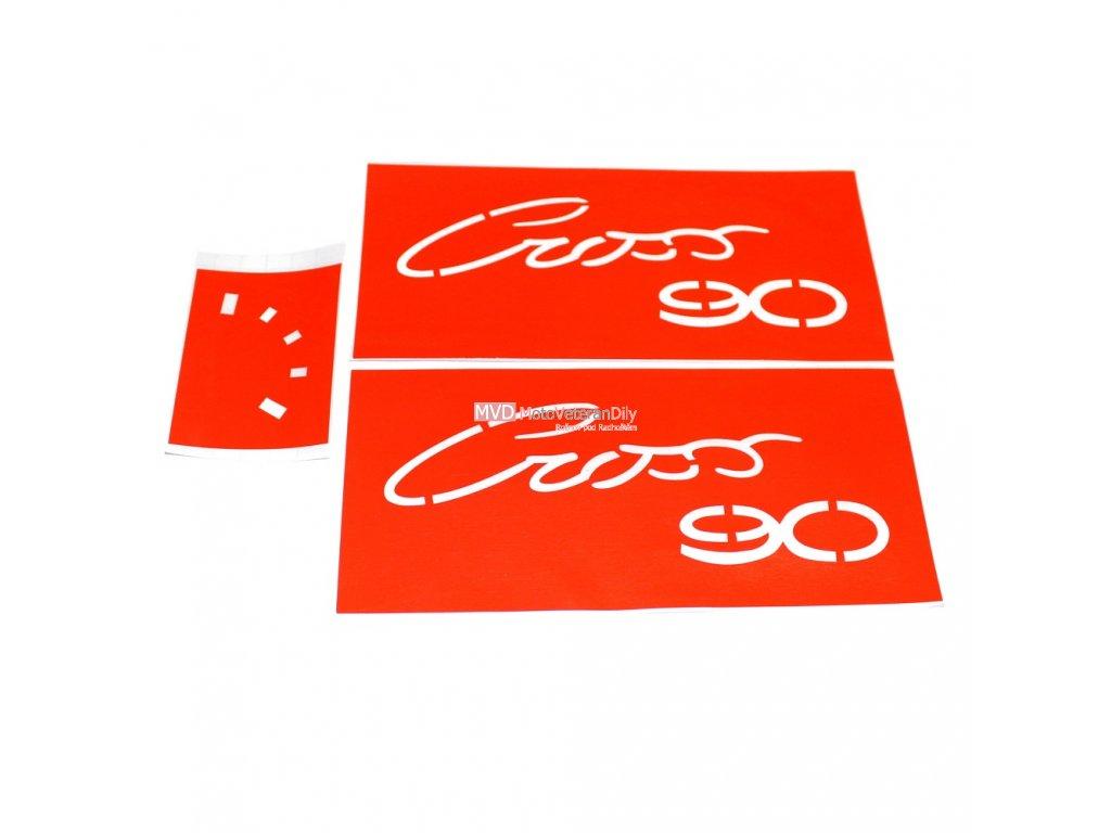 Šablony - pro nalakování nápisů Jawa 90 cross - na kastlíky