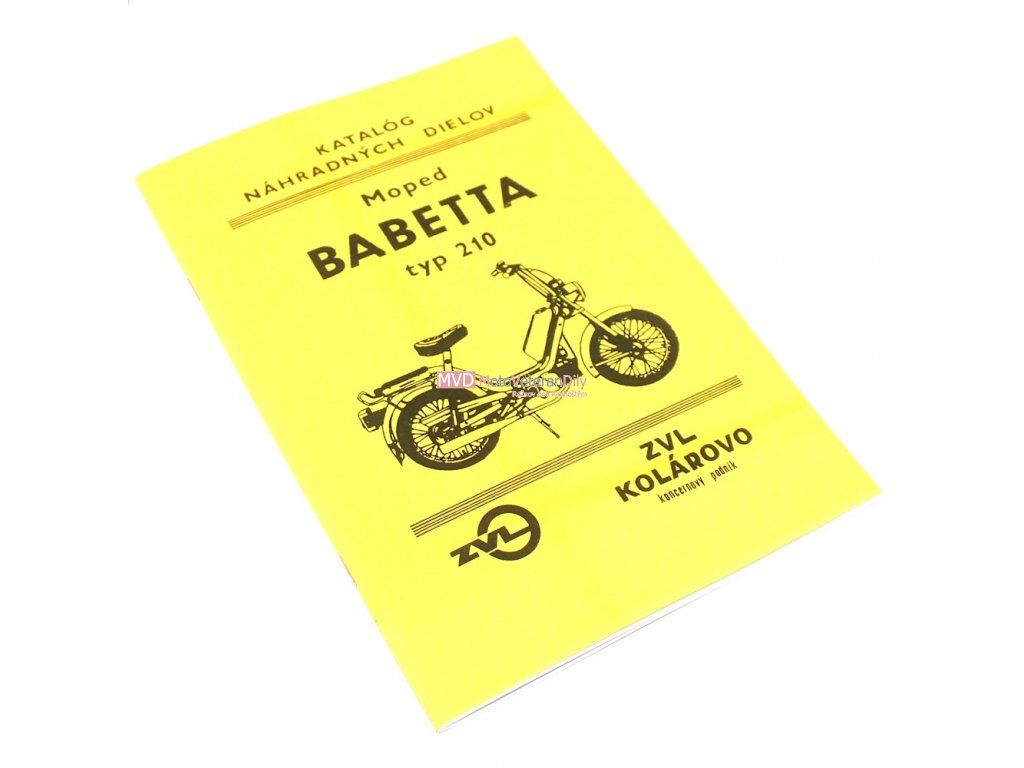 Katalog náhradních dílů Babetta 210