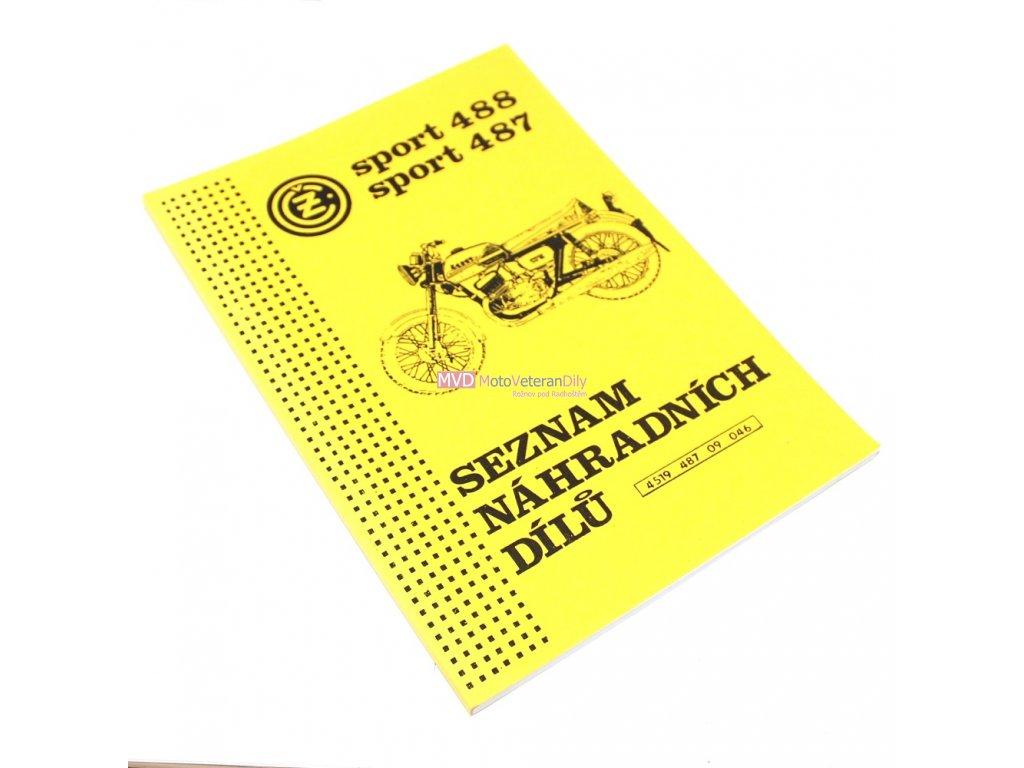 Katalog náhradních dílů Čz 488, 487