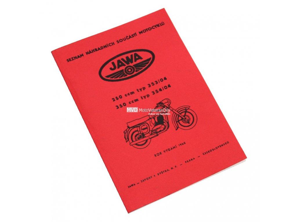 Katalog náhradních dílů Jawa 250/353, 350/354 - spínačka v masce