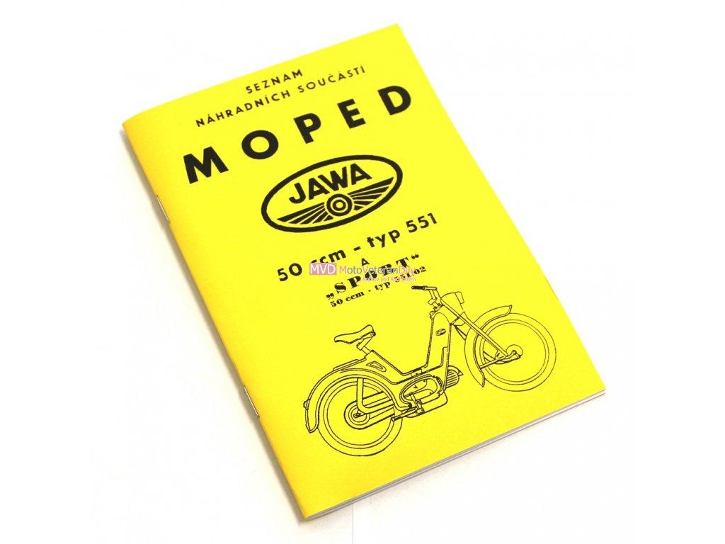 Katalog náhradních dílů Jawetta 551 a 551/02 Sport