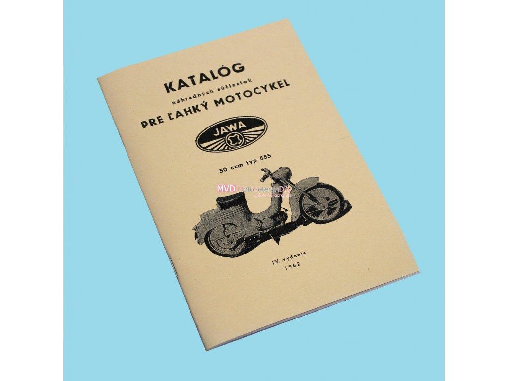 Katalog náhradních dílů Jawa 555 - jednosedadlák