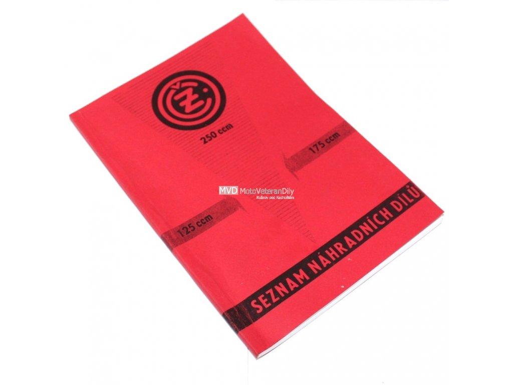 Katalog náhradních dílů ČZ 125, 175, 250 - kývačkový model