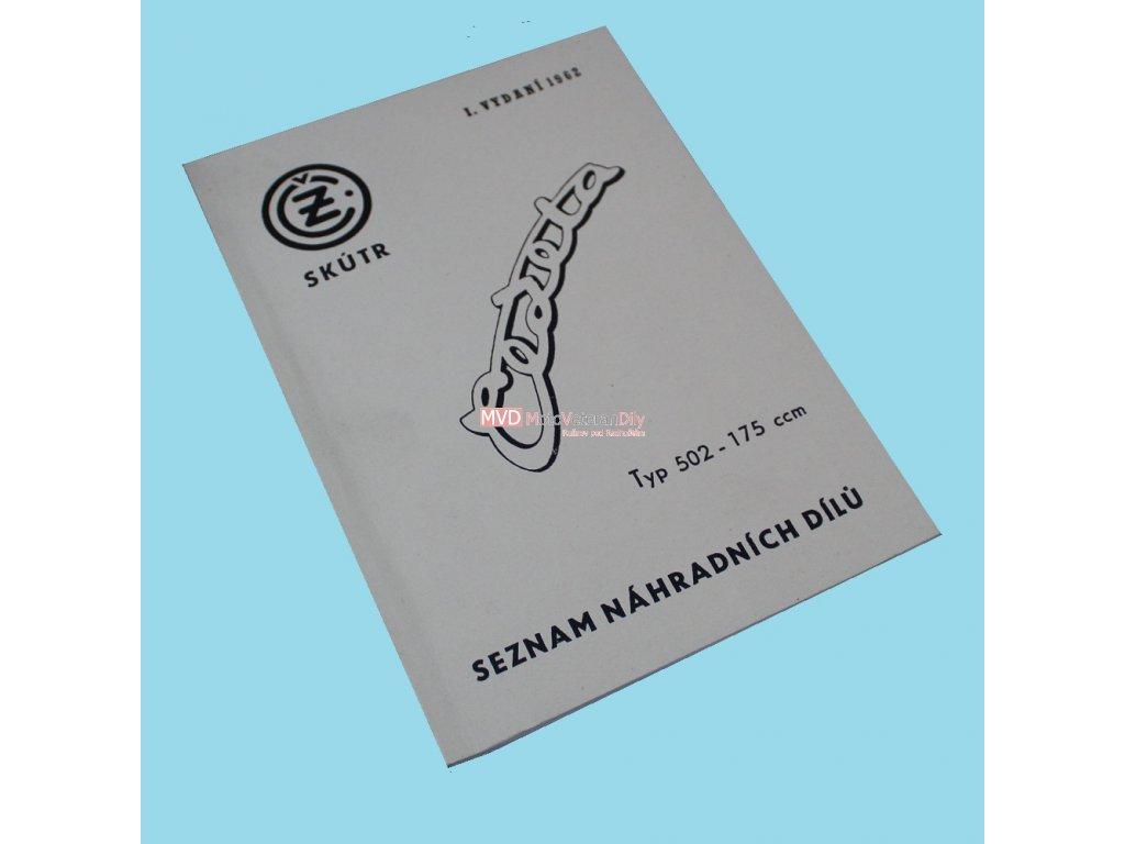 Katalog náhradních dílů ČZ 502 Skůtr