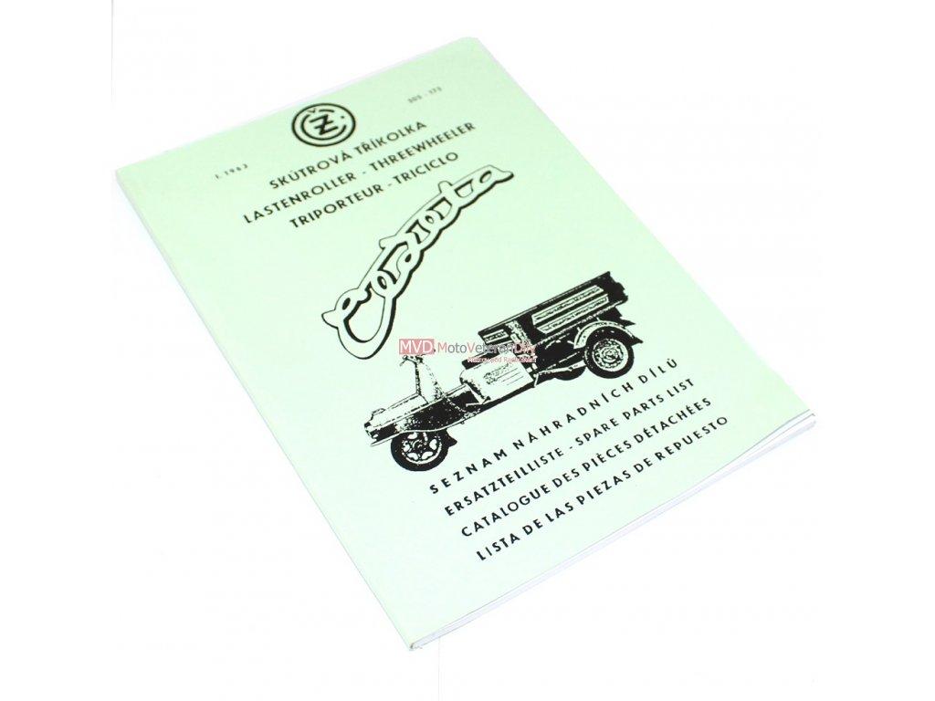Katalog náhradních dílů ČZ 505 Rykša