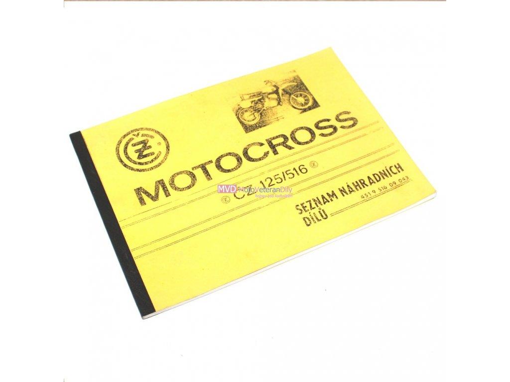 Katalog náhradních dílů ČZ 516 Motocross