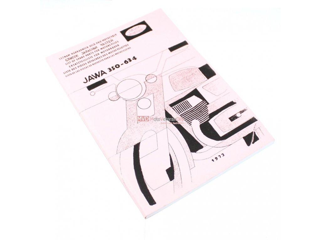 Katalog náhradních dílů JAWA 350 typ 634