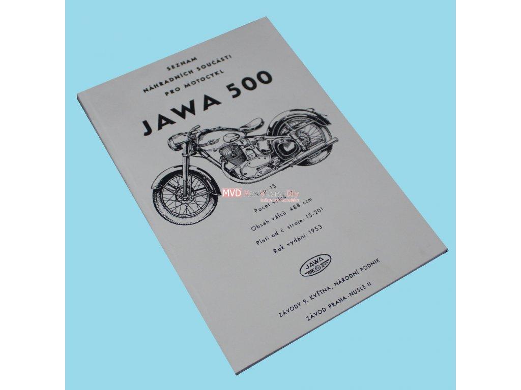 Katalog náhradních dílů Jawa 500 OHC - 00