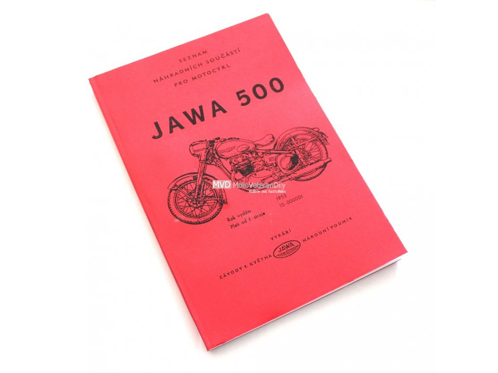 Katalog náhradních dílů Jawa 500 OHC - 01