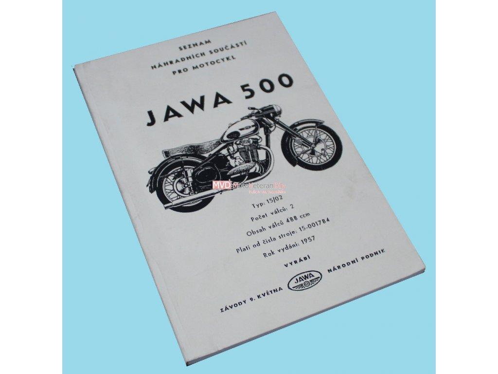 Katalog náhradních dílů Jawa 500 OHC - 02