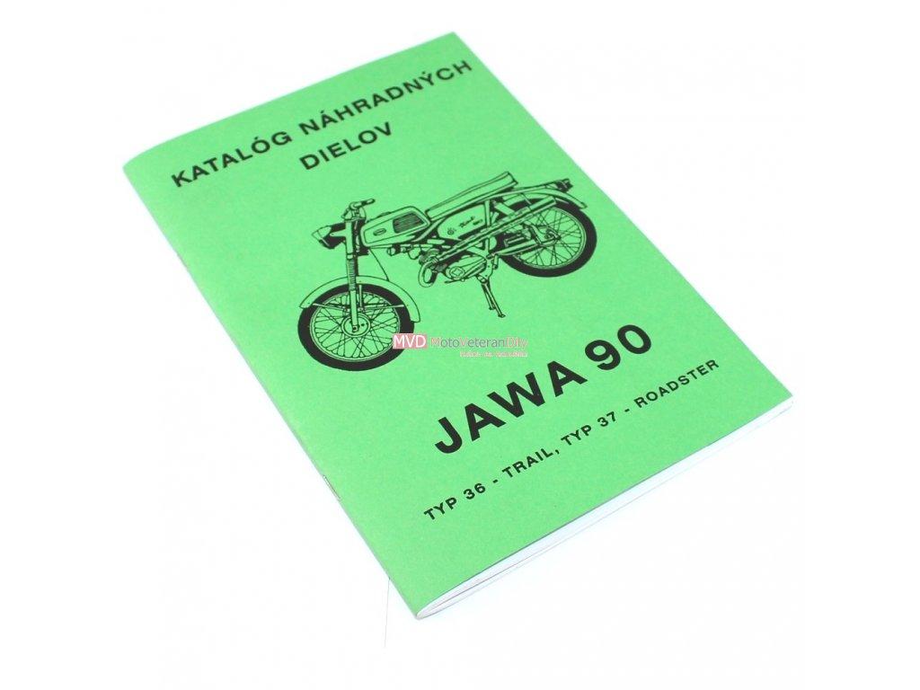 Katalog náhradních dílů Jawa 90 TRAIL, ROADSTER