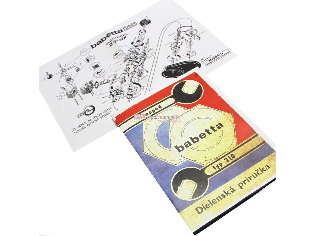 Dílenská příručka Babetta 210 - (barevná)