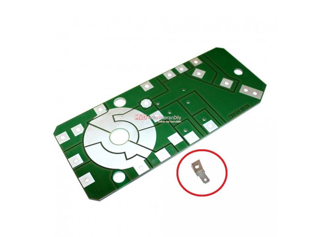 Konektor  na tištený spoj Jawa 90 - (jazýčkový)
