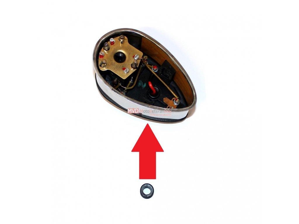 Gumová průchodka do spodku spínací skříňky Pérák FJ - (pro dráty k indukční cívce)