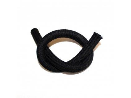 Benzínová hadice černá - opletená 1. metr