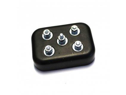 Bakelitový držák baterií Jawa 550 Pařez - (poklop pod sedlo)